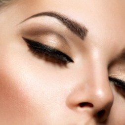 eyebrow threading and lashes